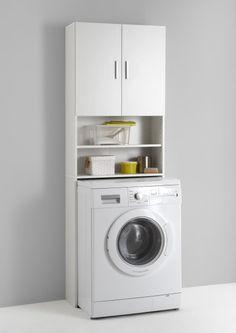 Olbia Waschmaschinenschrank Überbau FMD Möbel weiß