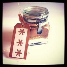 www.blossomtreehouse.wordpress.com Home made gift tags and brownie mixture.
