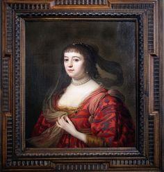 Gérard Van Honthorst 1592 1656 Portrait de Amalia Van Solms 1632 Utrecht la femme du Prince Stathouder Frédéric Hendrick of Orange