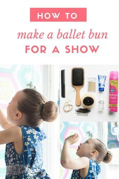 How to Make the Perfect Ballet Bun for a Show - - Wie man das perfekte Ballett Childrens Hairstyles, Cute Hairstyles For Kids, Ballet Hairstyles, Bun Hairstyles, Ballet Bun Tutorial, Ballet Makeup, Dance Competition Hair, Ballet Kids, Dance Ballet