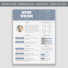 Resume Template / CV Template Pack for Microsoft Word by inspirowl