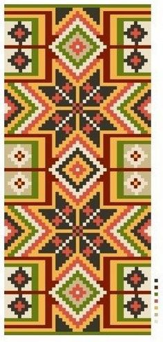 Bild från arbetsritning - Bänklängd från Viste härad i Västergötland Tapestry Bag, Tapestry Crochet, Tapestry Weaving, Scandinavian Embroidery, Crotchet Bags, Design Crafts, Charts, Art Decor, Beading