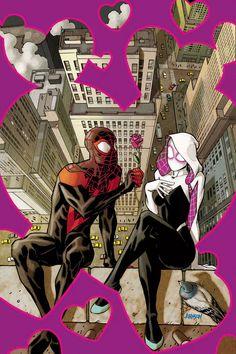 Homem-Aranha | Miles Morales e Gwen Stacy estão amando, em capas do crossover | Omelete