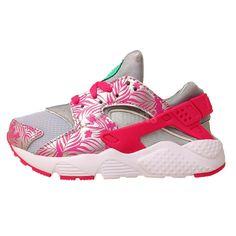 c542ff4db749 Nike Huarache Run Print PS NSW Grey Pink 2015 Preschool Girls Running Shoes