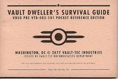 Buy Manual Only Xbox 360 Vault Dweller's Survival Guide Fallout 3 at online store Fallout Theme, Fallout Props, Fallout Art, Fallout New Vegas, Fallout 4 Survival Guide, Survival Prepping, Survival Skills, Karma, The Minutemen