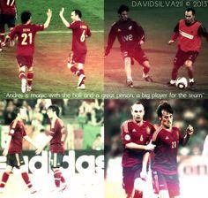 David Silva & Iniesta.............