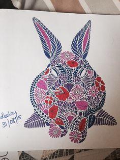 Rabbit From Millie Marottas Animal Kingdom Colouring Book