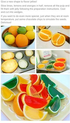 Great kids party idea or even add some vodka before setting for an adults party!