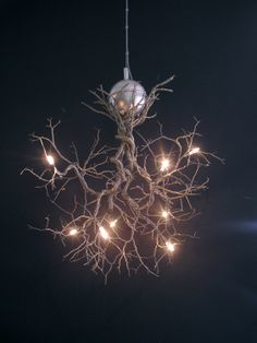 Roots Handmade ceiling light made of pewter wires. by FMFOS, €440.00