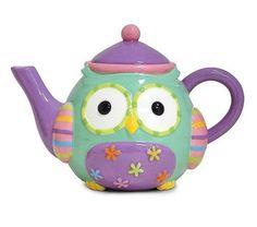 Whimsical Owl 32 Oz Teapot Adorable Kitchen and Dining Serveware Burton & Burton