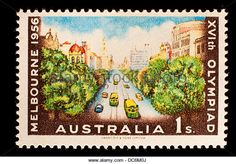 Stamp Australia Stock Photos & Stamp Australia Stock Images - Page 8 1956 Olympics, Australian Vintage, Melbourne Australia, Olympic Games, Postage Stamps, Vintage Posters, Childhood Memories, Vintage World Maps, Stock Photos