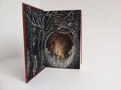 Altered Books by Isobelle Ouzman, who does lovely work with discarded hardbacks.