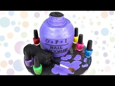Look at this awesome O.P.I cake by cookiescupcakesandcardio on youtube!