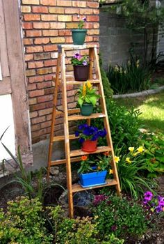 Repurposed Step Ladder!