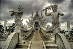 So this is my latest obsession. Might be knocking a day off Bangkok so we can spend a day in Chiang Rai and go see this amazing wat before we head to Chiang Mai.  Holy shit.