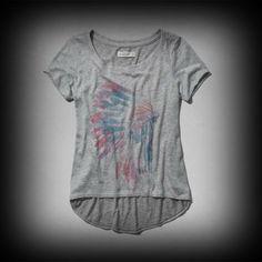 アバクロ レディース Tシャツ Abercrombie&Fitch Trista Snit Tシャツ  ★アバクロの人気商品、美しいグラフィックTシャツです。 ★レーヨン-62%、ポリエステル-38%肌ざわり着心地バツグンのTシャツ!