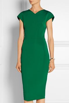 Victoria Beckham|Stretch-knit midi dress|NET-A-PORTER.COM