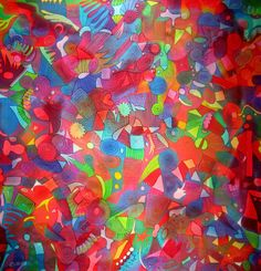 Silk scarf hand painted