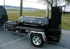 Discover thousands of images about Custom reverse-flow smoker hybrid with New Braunsville vertical smoking box. Bbq Grill Diy, Barbeque Design, Barbecue Pit, Bbq Smoker Trailer, Bbq Pit Smoker, Fire Pit Bbq, Fire Pits, Carne Asada, Custom Bbq Pits