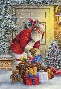 Christmas Scenes, Christmas Mood, Very Merry Christmas, Christmas Pictures, Santa Christmas, Holiday, Christmas Clipart, Christmas Greeting Cards, Christmas Greetings
