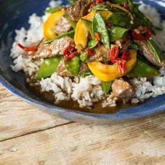 Asiatische Reispfanne mit Rindfleisch und Ingwer_Featured