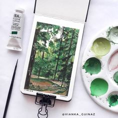 Vianka Guinaz on Instagram Follow So Super... | Gouche Painting, Art Drawings, Art Sketches, Art Sketchbook, Graphic, Watercolor Paintings, Watercolour, Painting Inspiration, Cute Art