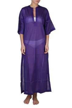Chloe Cover-Up Maxi Dress In Purple