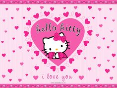 I Love Pink | Filed under: 1024×768 Lovely Hello Kitty Wallpapers