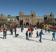 Ice skating in the heart of Amsterdam