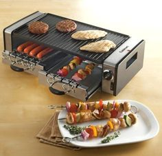 Cuisinart Griddler Grill, great for a tiny kitchen... ;)