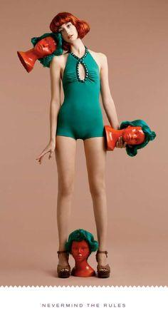 """Karla Colletto """"Willy Wonka"""" swimwear lookbook - by Design Army   http://www.designarmy.com"""