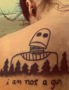The Iron Giant. Stupid tattoo. Funny movie...