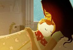 children Illustration Sleep - Precious Family Moments by Pascal Campion Pascal Campion, Illustration Paris, Cute Illustration, Art Illustrations, Mother And Child, Mothers Love, American Artists, Parents, Character Design