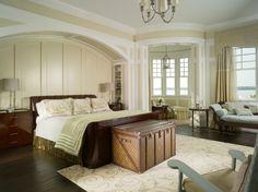 Coastal bedroom. Love the Chest!