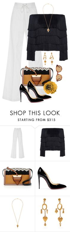 """It Was Always You"" by jacque-reid ❤ liked on Polyvore featuring A.L.C., Loewe, Christian Louboutin, Chloé and Yves Saint Laurent"