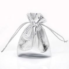 8Years 100PCs Silver Wedding Party Favor Gift Bags Terylene Drawstring Christmas Jewelry Candy Packing Pouches Wholesale Bulk 7x9cm, http://www.amazon.ca/dp/B00MA2G834/ref=cm_sw_r_pi_awdl_I7fLub0GQ65V7