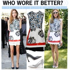 Who Wore It Better Chiara Ferragni or Olivia Palermo in Dior resort 2015 Dress