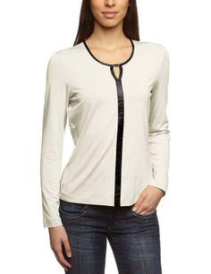 Gerry Weber - Camiseta con cuello redondo de manga larga para mujer  Amazon. es f6ea7b39a0eec