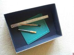EQUIPMENT: A pencil, a steel ruler, a pen knife, and a small cutting mat.