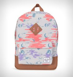 Herschel Supply's popular heritage draws inspiration from classic backpack design and is modernised specifically for kids. Back To School Backpacks, Kids Backpacks, Tan Girls, Herschel Supply Co, Designer Backpacks, Herschel Heritage Backpack, Leather, Bags, Accessories