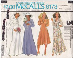 Vintage McCall's Sewing Pattern 6173 High Shaped by Ziatacraft
