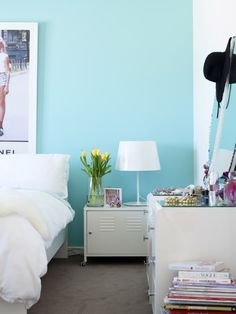 beautiful south: Teenage Bedroom Decor...Isabelle loves this color maybe for her new room...