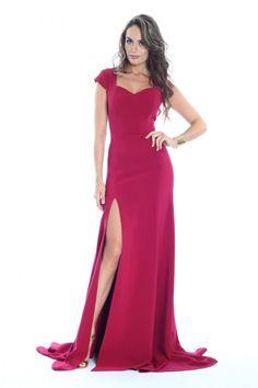 rochie lunga bordo - rochii de seara lungi la reducere