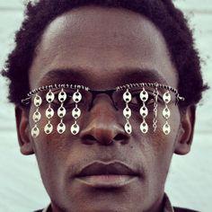 Brillekunst. Festival Looks, Afro Punk, Headgear, African Art, Wearable Art, Eyewear, Jewelery, Fashion Accessories, Jewelry Design