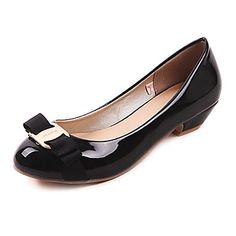 Leatherette Women's Low Heel Ballerina Flats Shoes (More Colors)