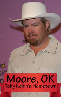 Toby Keith came back to Moore, his hometown, to check up on family and friends.