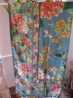 April Cornell HARRIETu0027S HYDRANGEA Tablecloth BRAND NEW Tag 100% Cotton  COUNTRY #AprilCornell