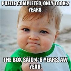 Victory Baby Meme - Puzzle Completed
