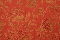 Richloom Veranda Tapestry Upholstery Fabric in Coral