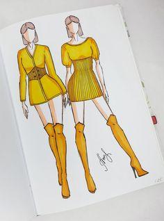 Fashion Drawing Tutorial, Fashion Figure Drawing, Fashion Drawing Dresses, Fashion Illustration Collage, Fashion Illustration Dresses, Fashion Design Portfolio, Fashion Design Drawings, Fashion Model Sketch, Fashion Sketches